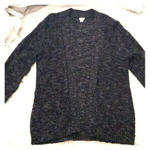 Black Marled J. Crew Sweater Size XL